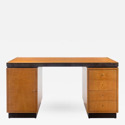 Axel Einar Hjorth Swedish Early Modernist Birch and Sycamore Desk Model Corral
