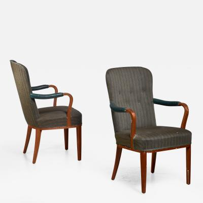 Axel Larsson Pair of Axel Larsson armchairs Sweden 1940s