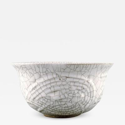 Axel Salto Axel Salto for Royal Copenhagen Crackled craquel bowl in glazed stoneware