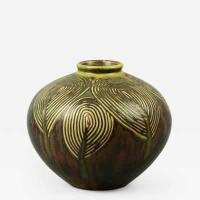 Axel Salto Axel Salto for Royal Copenhagen Living Stones Vase with Solfatara Glaze