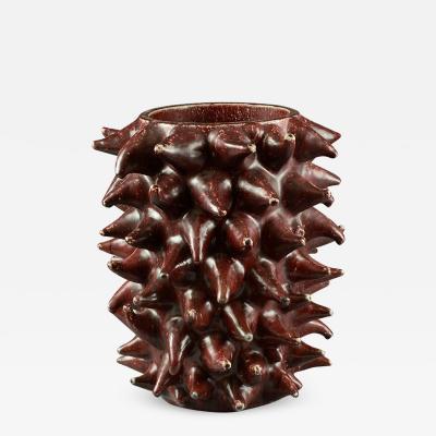 Axel Salto Axel Salto for Royal Copenhagen sprouting vase with oxblood glaze 1955