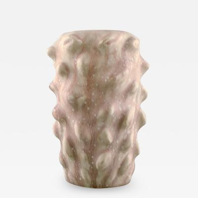 Axel Salto Early vase in budding style Beautiful eggshell glaze in pink and cream tones