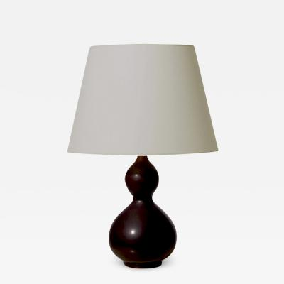 Axel Salto Exquisite Double Gourd Lamp in Oxblood Glaze by Axel Salto