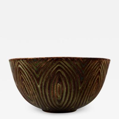 Axel Salto Stoneware bowl in fluted style