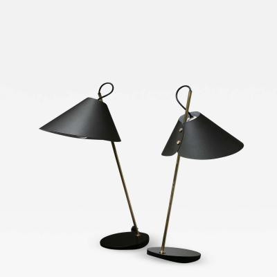 Azucena Pair of Base Ghisa Table Lamps by Caccia Dominioni for Azucena