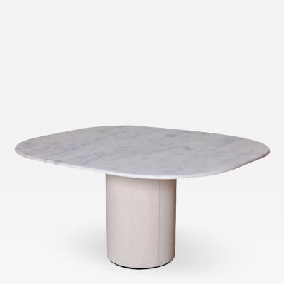 B B Italia Dining Table by 1970s B B Italia in Leather and Marble