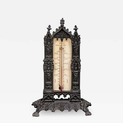 B Day Bronze Desk Thermometer Circa 1828