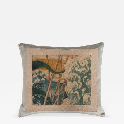 B VIZ DESIGN ANTIQUE TEXTILE PILLOW