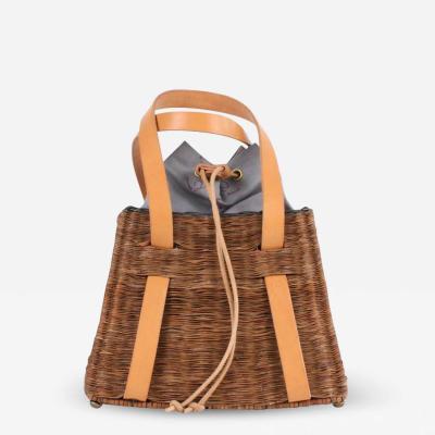 B n dicte Magnin Robert Bespoke Leather and Willow Bark Handbag L Olympien