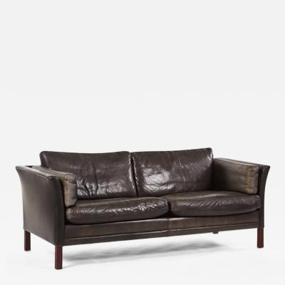 B rge Mogensen A Gray Leather Borge Mogensen Sofa