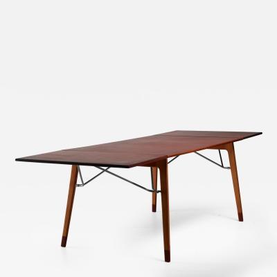 B rge Mogensen B rge Mogensen Double Drop Leaf Table for S borg Sweden 1950s