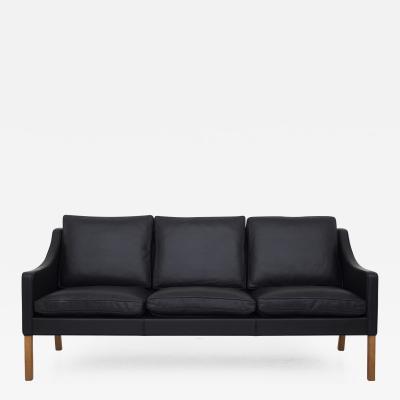 B rge Mogensen BM 2209 New Upholstered Sofa in Black Leather