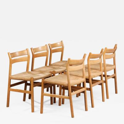 B rge Mogensen BM1 Dining Chairs by B rge Mogensen CM Madsen Set of Six