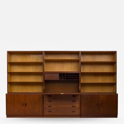 B rge Mogensen Bookcase System with Bureau by B rge Mogensen