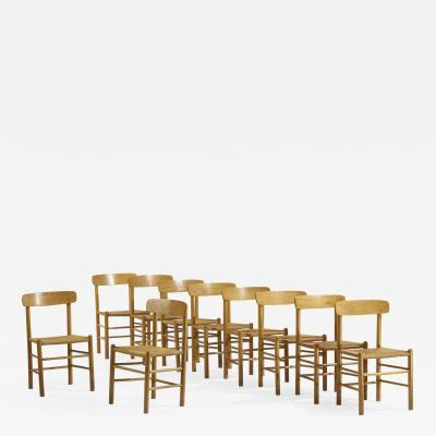 B rge Mogensen Borge Mogensen attibution dining chairs set of ten