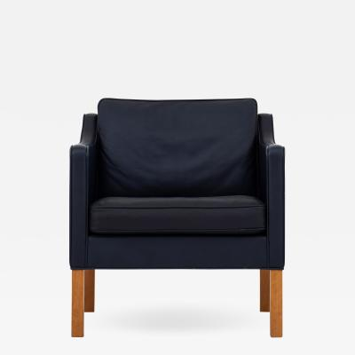 B rge Mogensen Easy chair in blue leather