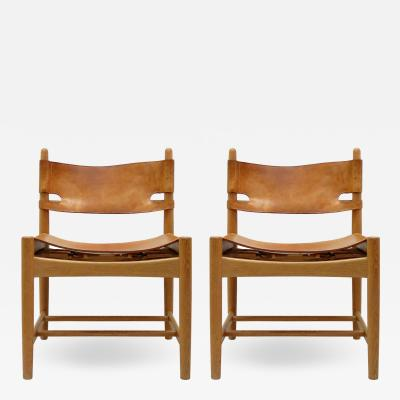 B rge Mogensen Pair of B rge Mogensen Hunting Chairs Model 3237