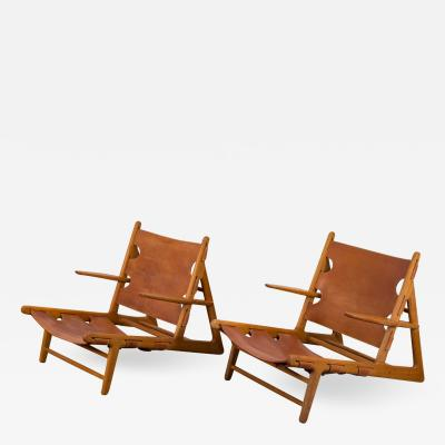 B rge Mogensen Pair of Borge Mogensen Hunting Chairs