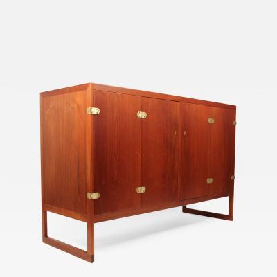 B rge Mogensen Scandinavian Modern Teak Cabinet with Brass Hinges Designed by Borge Mogensen