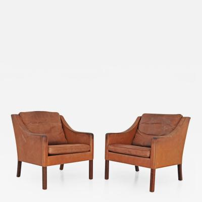 B rge Mogensen Set of 2 Lounge Chairs by Borge Mogensen