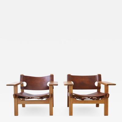 B rge Mogensen Spanish Chairs pair