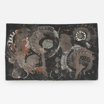 B rje Skohg B rje Skohg for Ceramic Gustavsberg Ceramic Tile with Silver Overlay