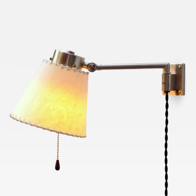 BAG Turgi Bronzewarenfabrik AG Turgi Pair of Swing Arm Wall Lamps from BAG TURGI Switzerland