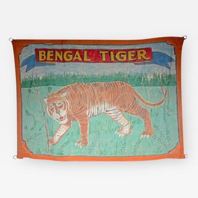 BENGAL TIGER 1940S CIRCUS BANNER ARTWORK