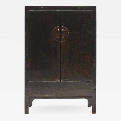 BLACK Brown CHINESE QING DYNASTY PERIOD CABINET FROM SHANXI 1800 1820