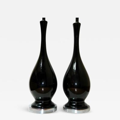 BLACK PORCELAIN TABLE LAMPS