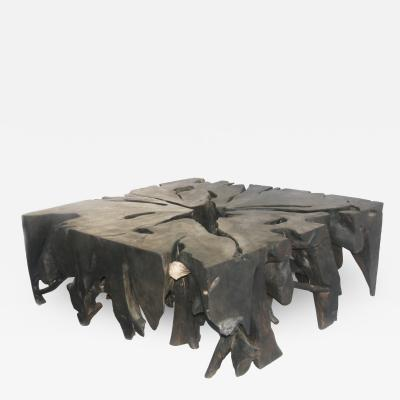 BLACK SQUARE ROOT COFFEE TABLE