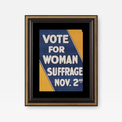 BLUE AND YELLOW SUFFRAGETTE MOVEMENT POSTER