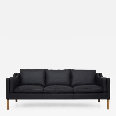 BM 2213 New Upholstered Sofa in Black Leather