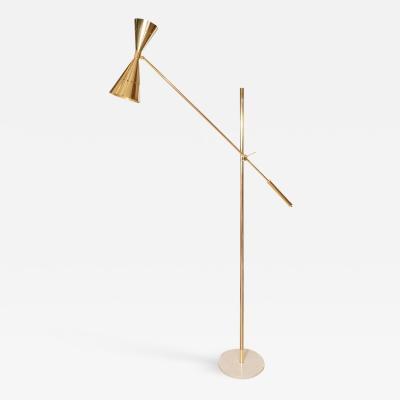 BRASS SPOTLIGHT FLOOR LAMP