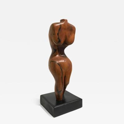 BRAZILIAN WALNUT TORSO SCULPTURE