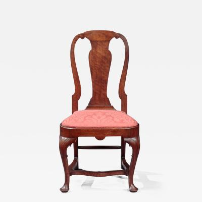 BROMFIELD FAMILY QUEEN ANNE COMPASS SEAT SIDE CHAIR