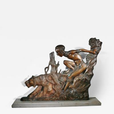 BRONZE ART DECO SCULPTURE Probably Austrian ca 1920 s 1930 s