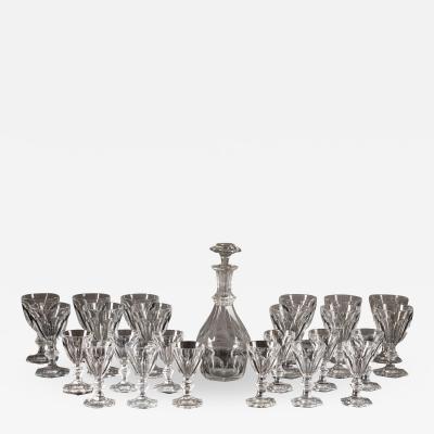 Baccarat Harcourt pattern Drinkin service Mid 20th century