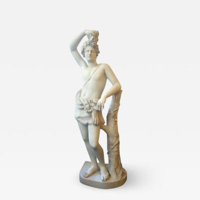 Bacchus plaster statue France circa 1930