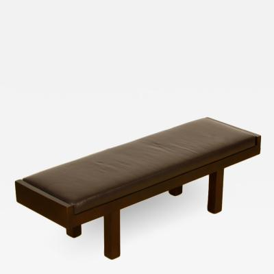 Baker Coach Leather upholstered Manhattan Bench
