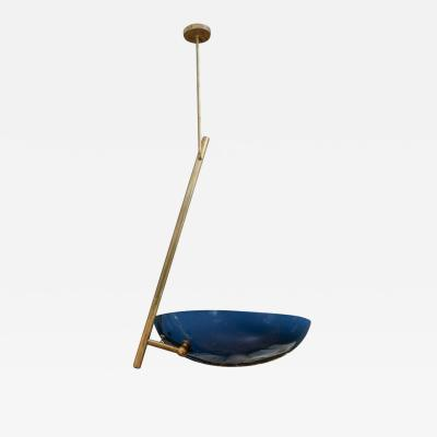 Balanced Ceiling Lamp with Blue Cup
