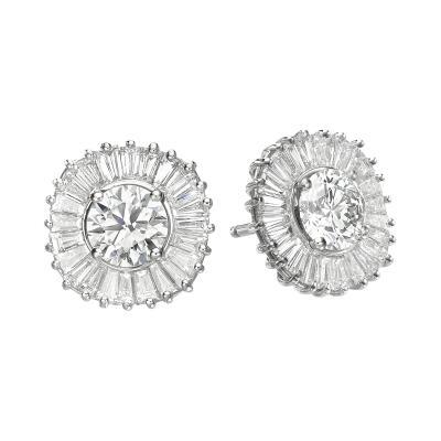 Ballerina Interchangeable Diamond Ruby Sapphire Earring Set GIA Cert D VVS1