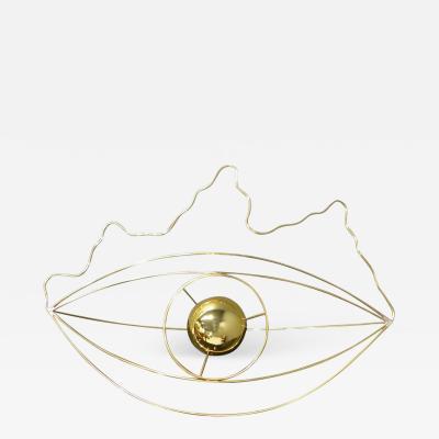 Baltasar Portillo Eye Table Lamp in Wire by Baltasar Portillo