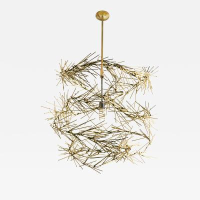 Baltasar Portillo Swirl Functional Art chandelier by baltasar Portillo
