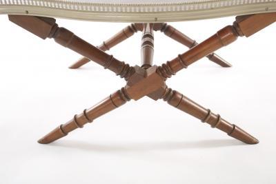 Bamboo Framed Mahogany wood Tray Table