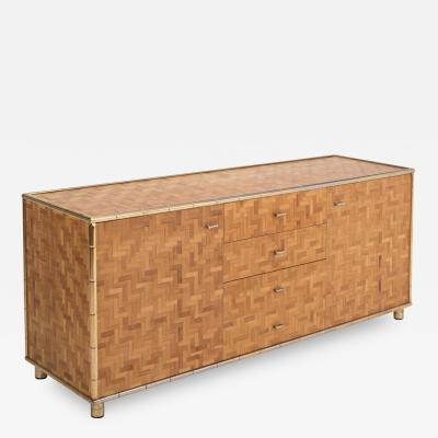 Bamboo Sideboard In Hollywood Regency Style 1970s
