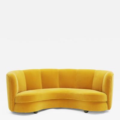 Banana sofa Danish design approx 1950