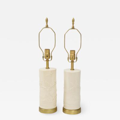 Banc de Chine Ivory Porcelain Lamps