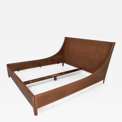Barbara Barry Mid Century Modern Cal King Bed Frame Designed By Barbara Barry for McGuire