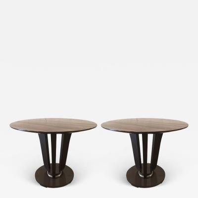 Barbara Barry Pair of Barbara Barry Gueridon Tables for Baker